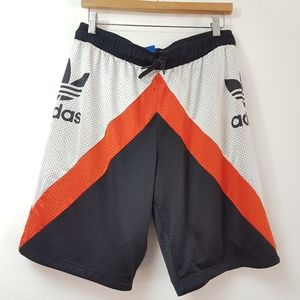 ADIDAS Men Basketball Shorts White/Orange/Black
